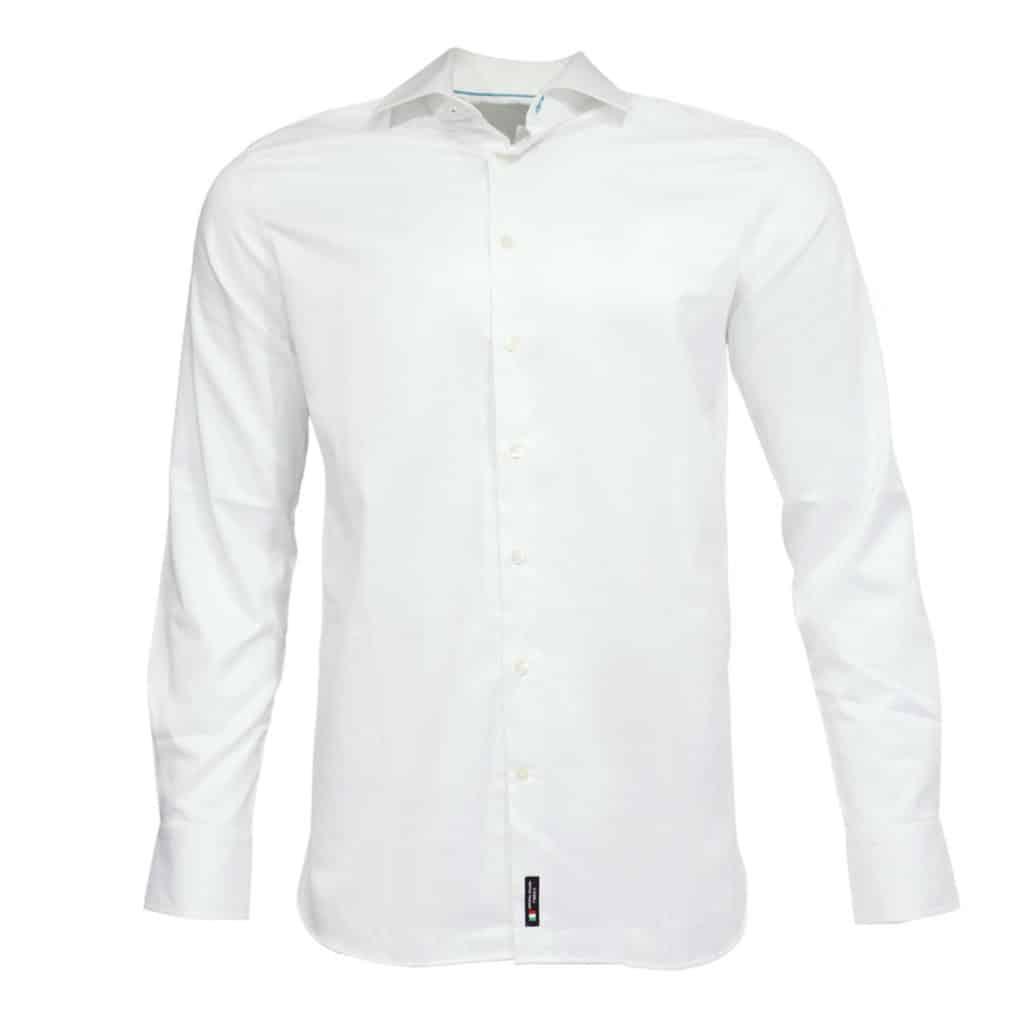British Indigo modern fit white shirt