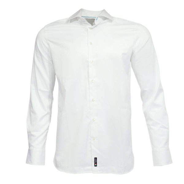 British Indigo modern fit white shirt