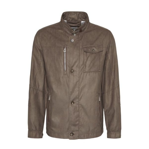 Bugatti Casual soft jacket brown front