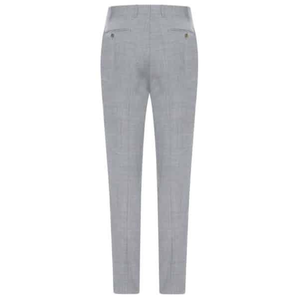 CANALI FORMAL Mèlange Grey Wool Trousers back