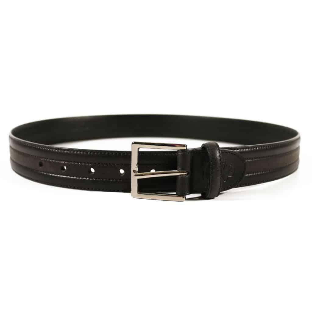 Canali Belt black textured 1