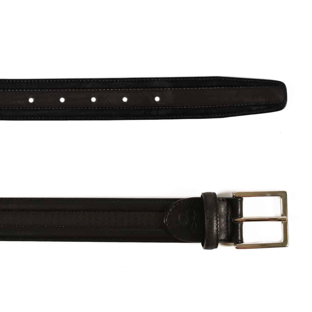Canali Belt black textured 2