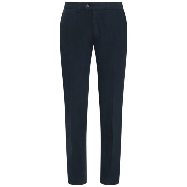 Canali Cotton Twill Navy Chinos 1