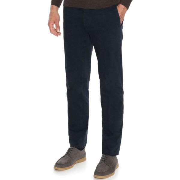 Canali Cotton Twill Navy Chinos 2