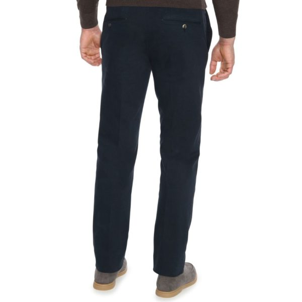 Canali Cotton Twill Navy Chinos 3
