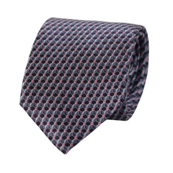 Canali Cube Pattern Tie