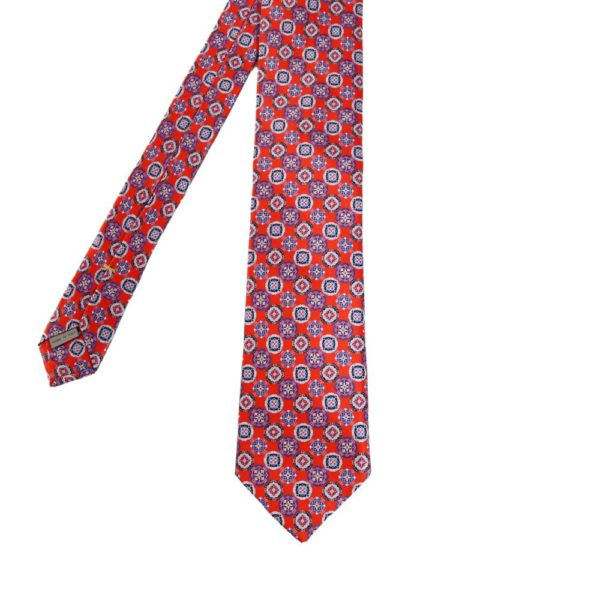 Canali Decorative Pattern Tie red main
