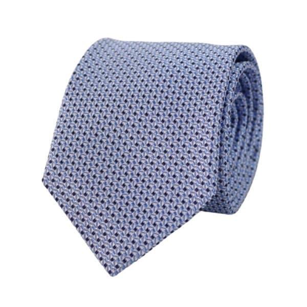 Canali Diamond knit tie light blue