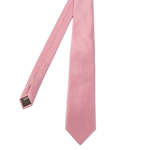 Canali Dot Knit Tie Pink main