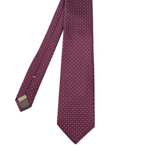 Canali Floral Knit Tie Violet Blue 1