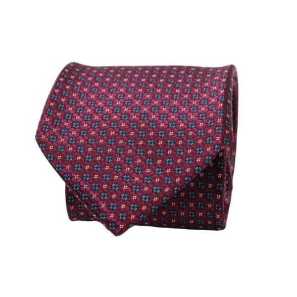 Canali Floral Knit Tie Violet Blue 2