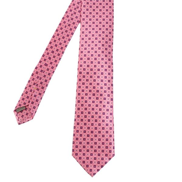 Canali Floral Shape Pattern Tie Pink main