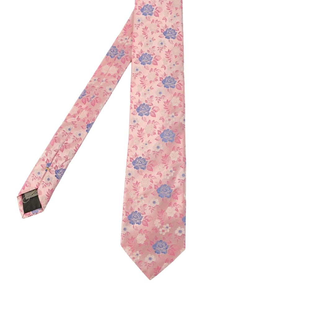 Canali Floral bloom tie pink main