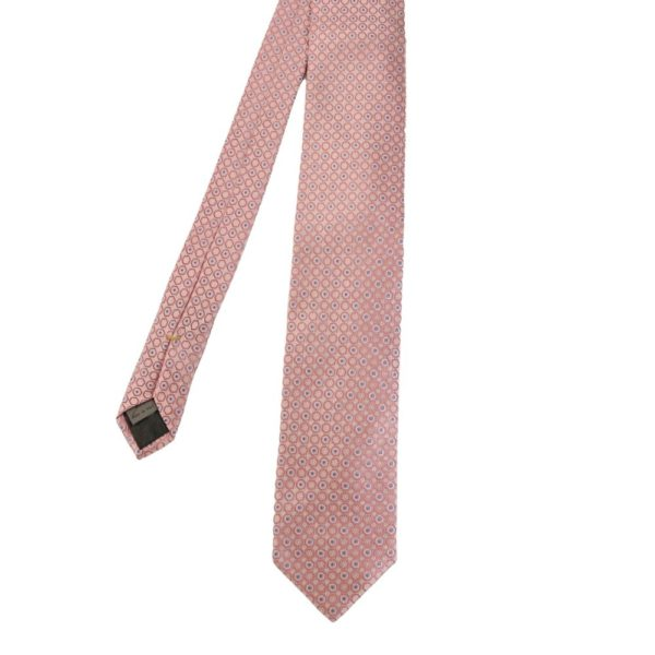 Canali Hexagon and Dots Tie pink main