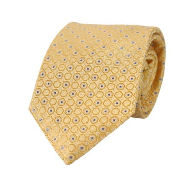 Canali Hexagon tie yellow