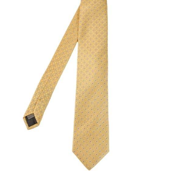 Canali Hexagon tie yellow main