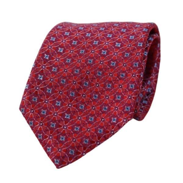 Canali Kaleidoscope Pattern Tie red