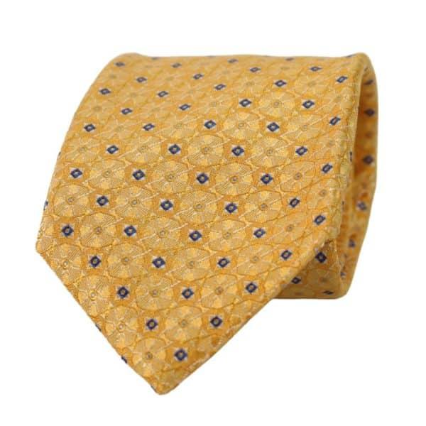 Canali Kaleidoscope Pattern Tie rolled