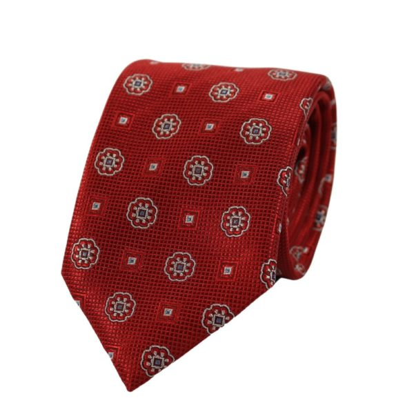 Canali Medallion and Square Tie