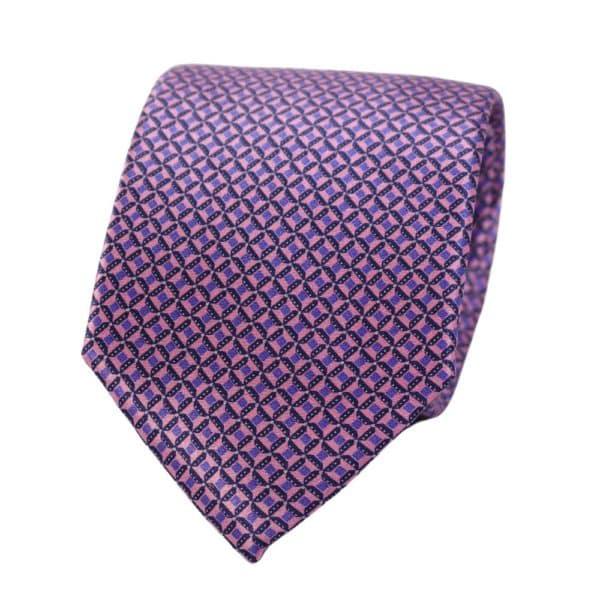 Canali Micro Pattern Tie purple