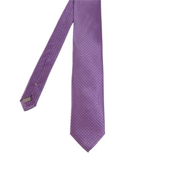 Canali Micro Pattern Tie purple main