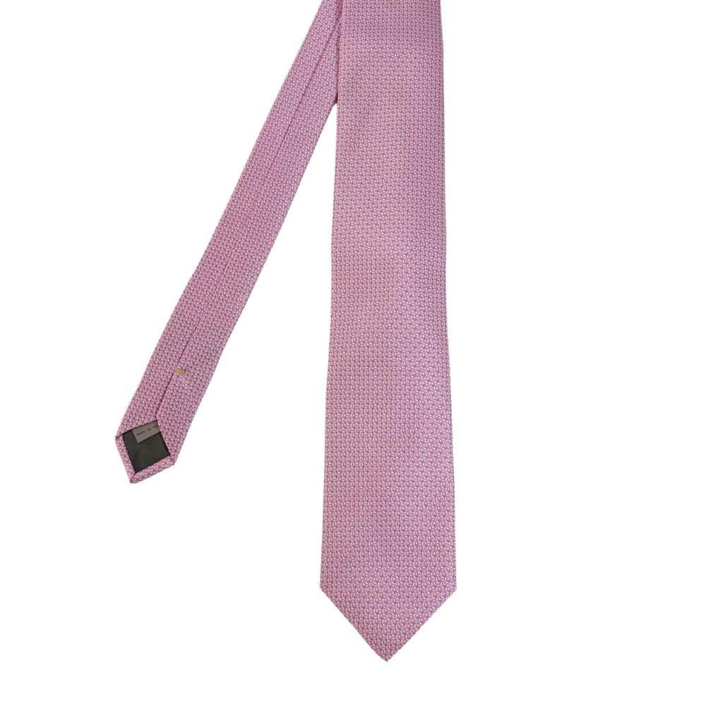Canali Mini Diamond Knit Tie pink main