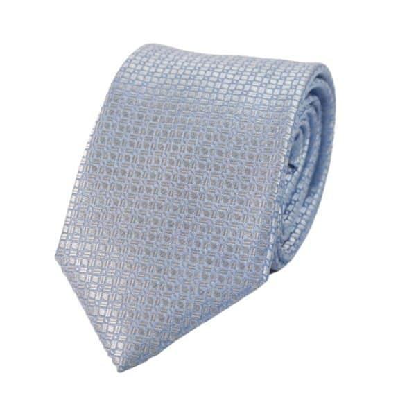 Canali Mirror Pattern Tie Light BlueSilver
