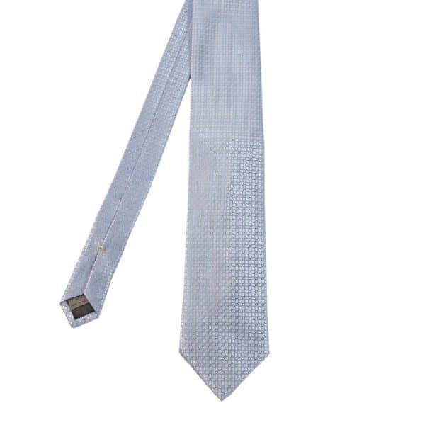 Canali Mirror Pattern Tie Light BlueSilver main