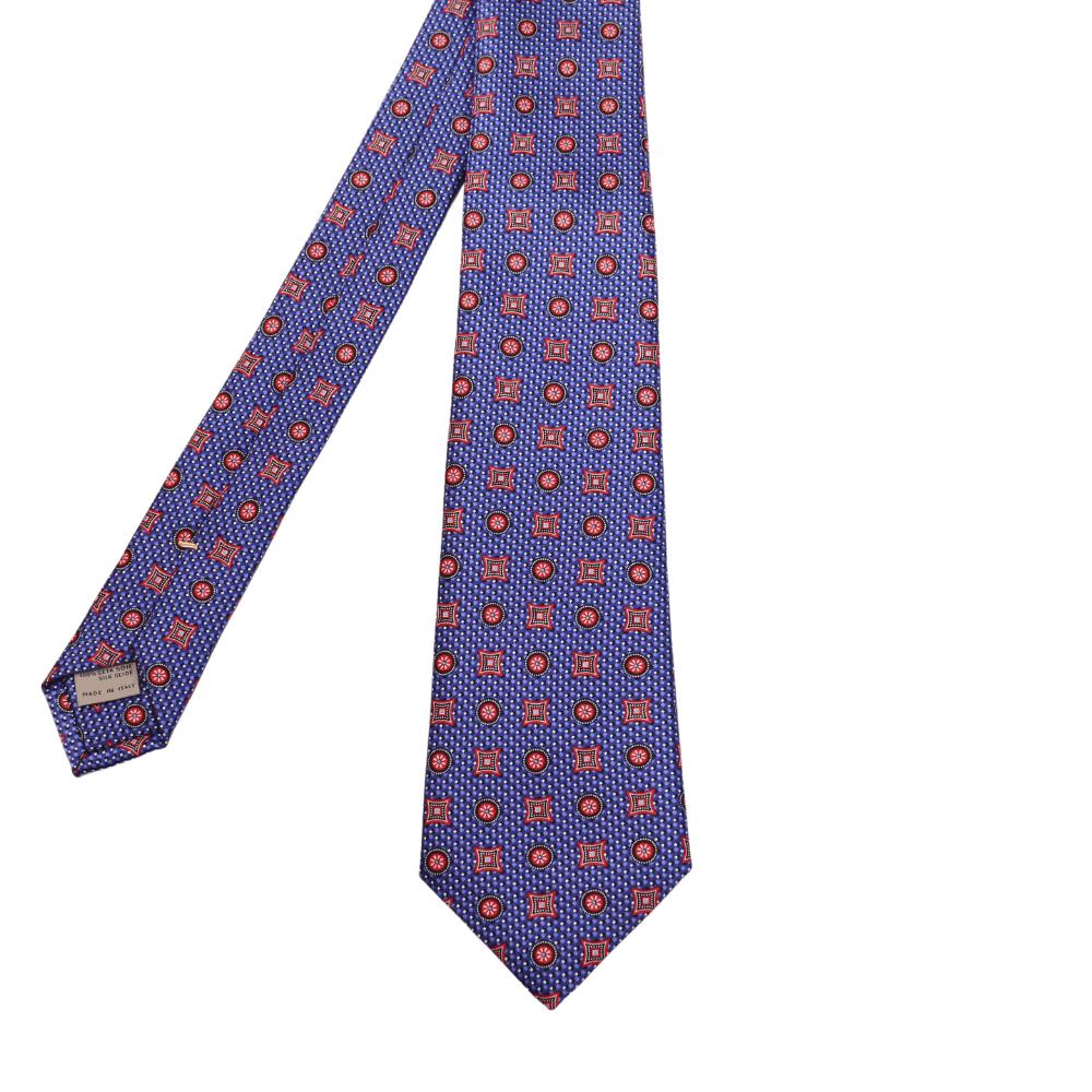 Canali Ornate Tie Blue
