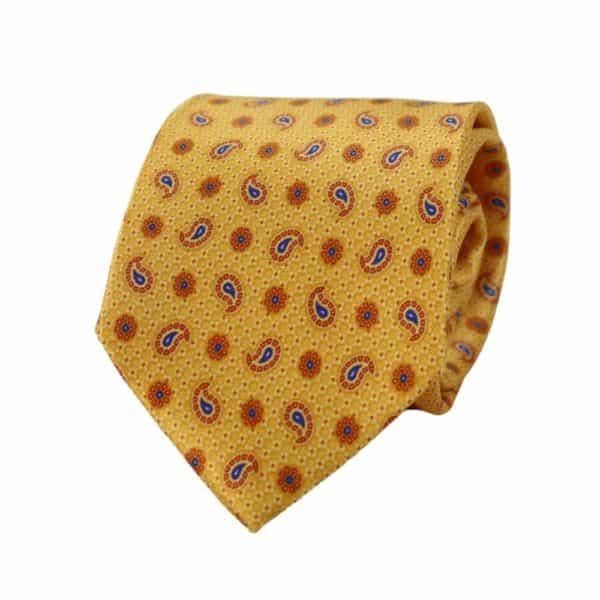 Canali Paisley Tie Yellow