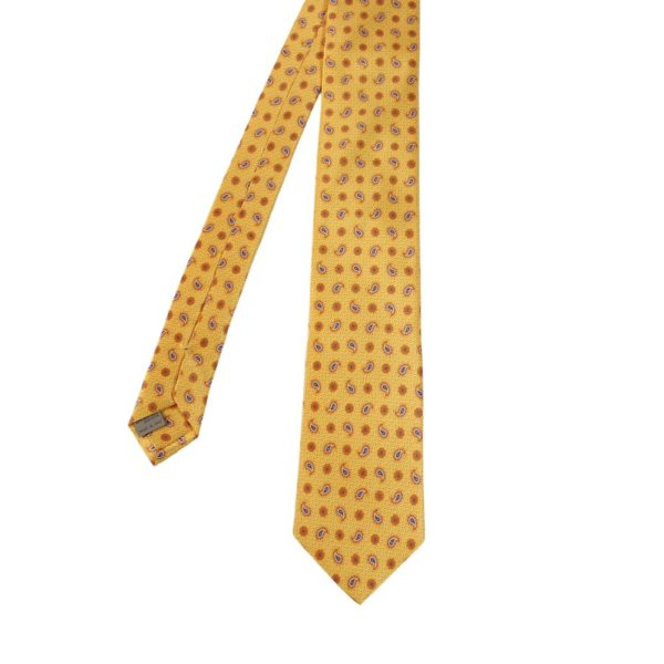 Canali Paisley Tie Yellow main