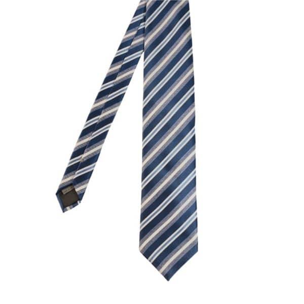 Canali Regimental stripe blue main