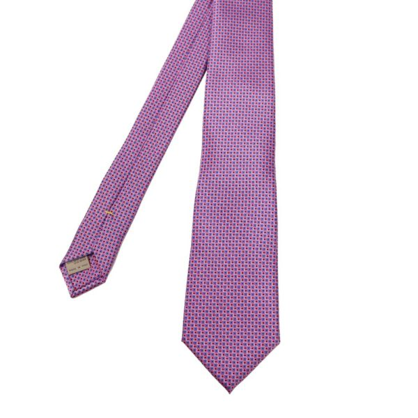 Canali Squares Tie Pink Blue 1