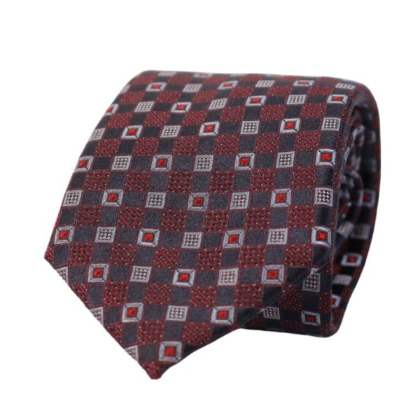 Canali Squares and Grid Tie NavyCrimson