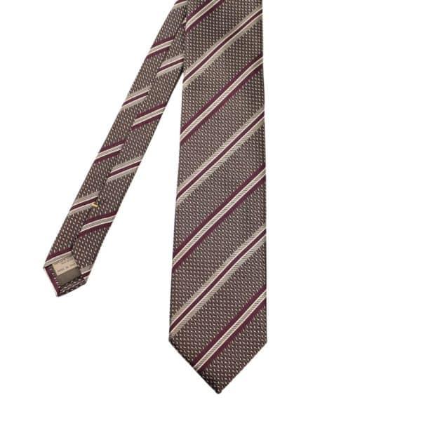 Canali Tie Regimental Stripe Violet 1