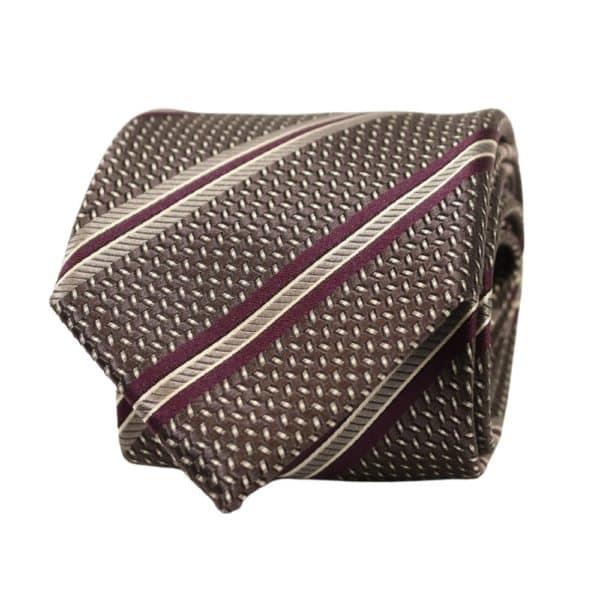 Canali Tie Regimental Stripe Violet 2