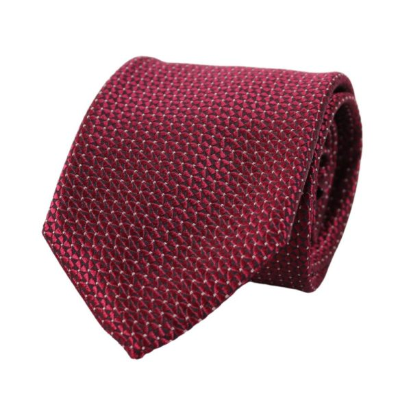 Canali Triangle and Dot Tie red main