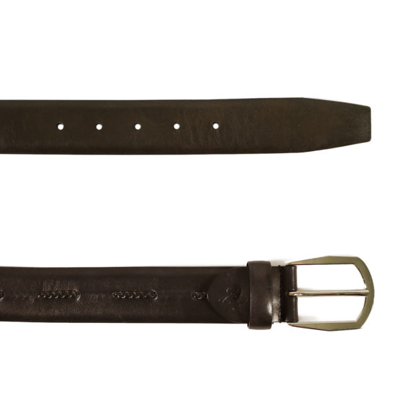 Canali dark brown belt braided insert