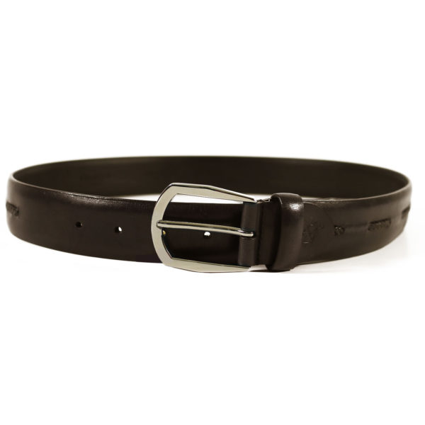 Canali dark brown belt braided insert2