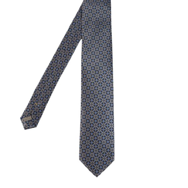 Canali floral shape pattern tie blue main