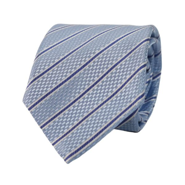 Canali stripe tie light blue
