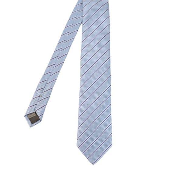 Canali stripe tie light blue main
