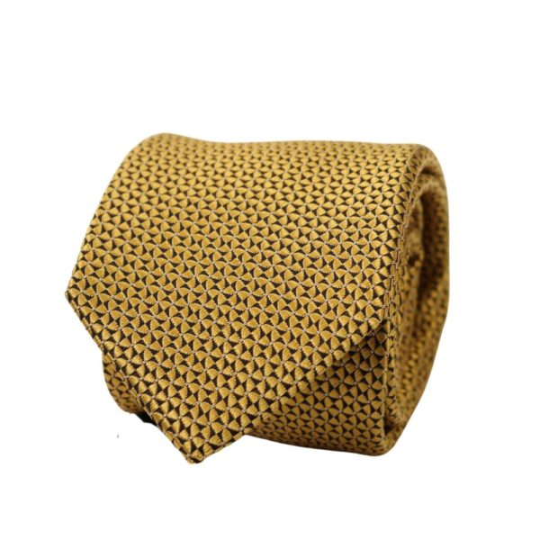 Canali triangles dots tie yellow 1