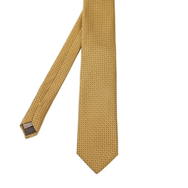 Canali triangles dots tie yellow 2