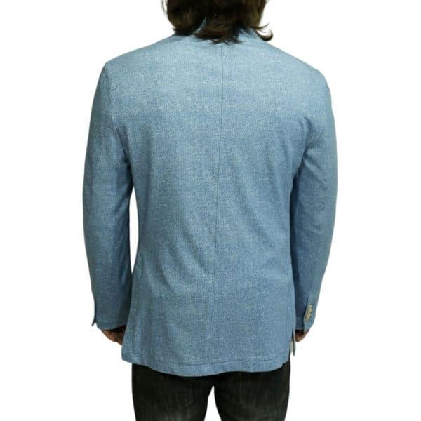 Circolo herringbone blazer jacket blue