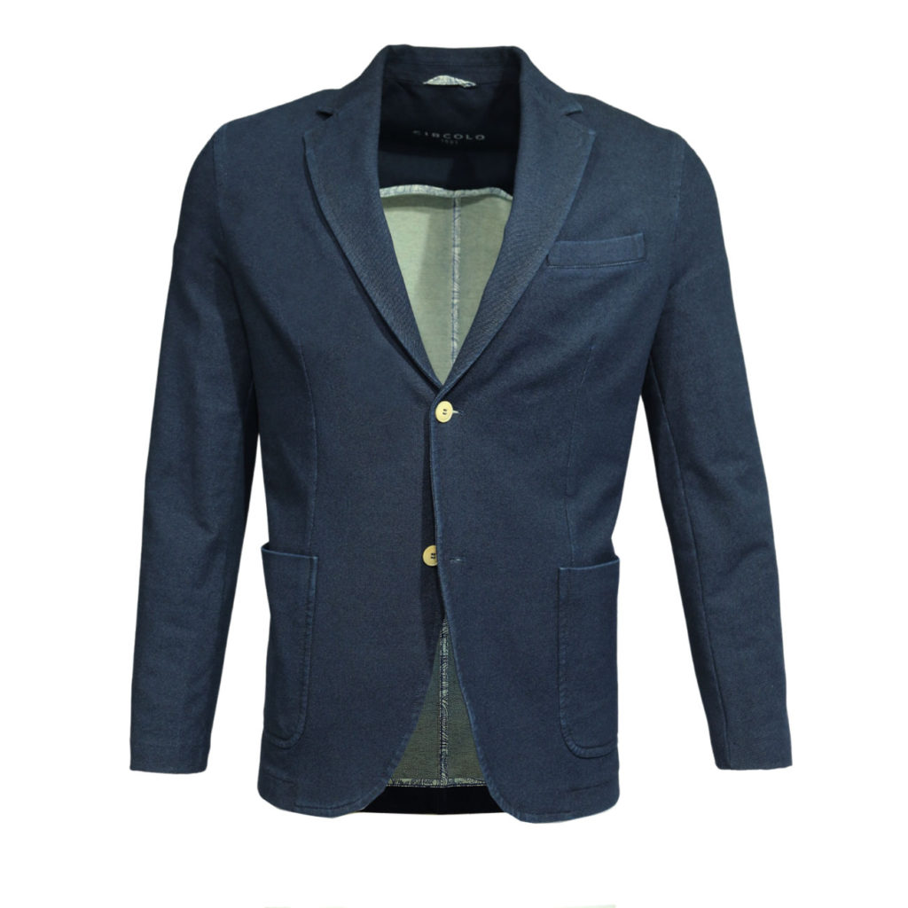 Circolo jacket indigo stretch twill