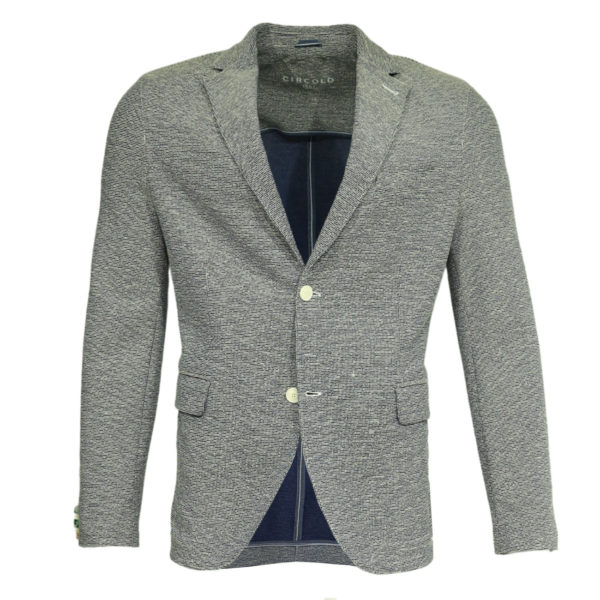 Circolo light grey blazer jacket front1
