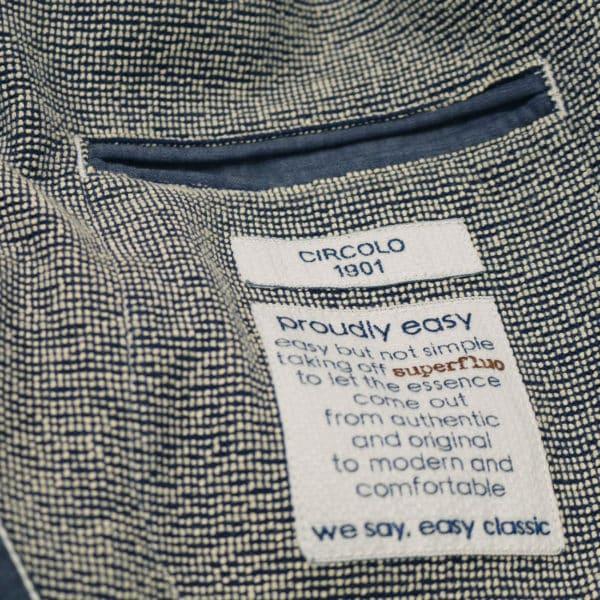Circolo pin head blazer jacket inner pocket