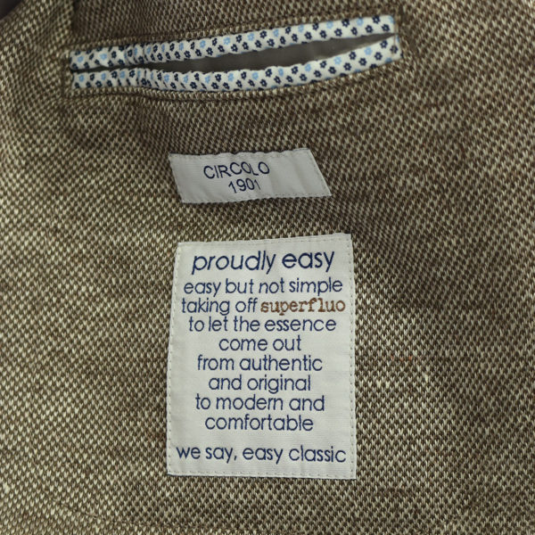 Circolo sand blazer inside pocket
