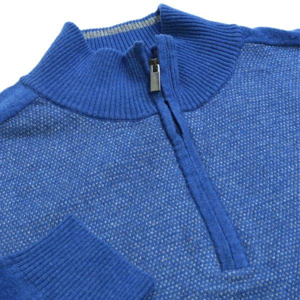 Codice blue half zip jumper detail